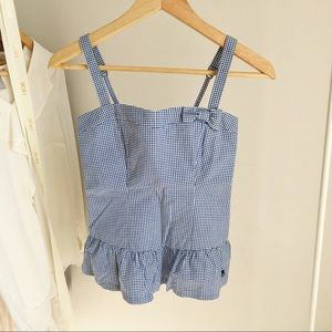 ABERCROMBIE & FITCH Gingham Tank Top